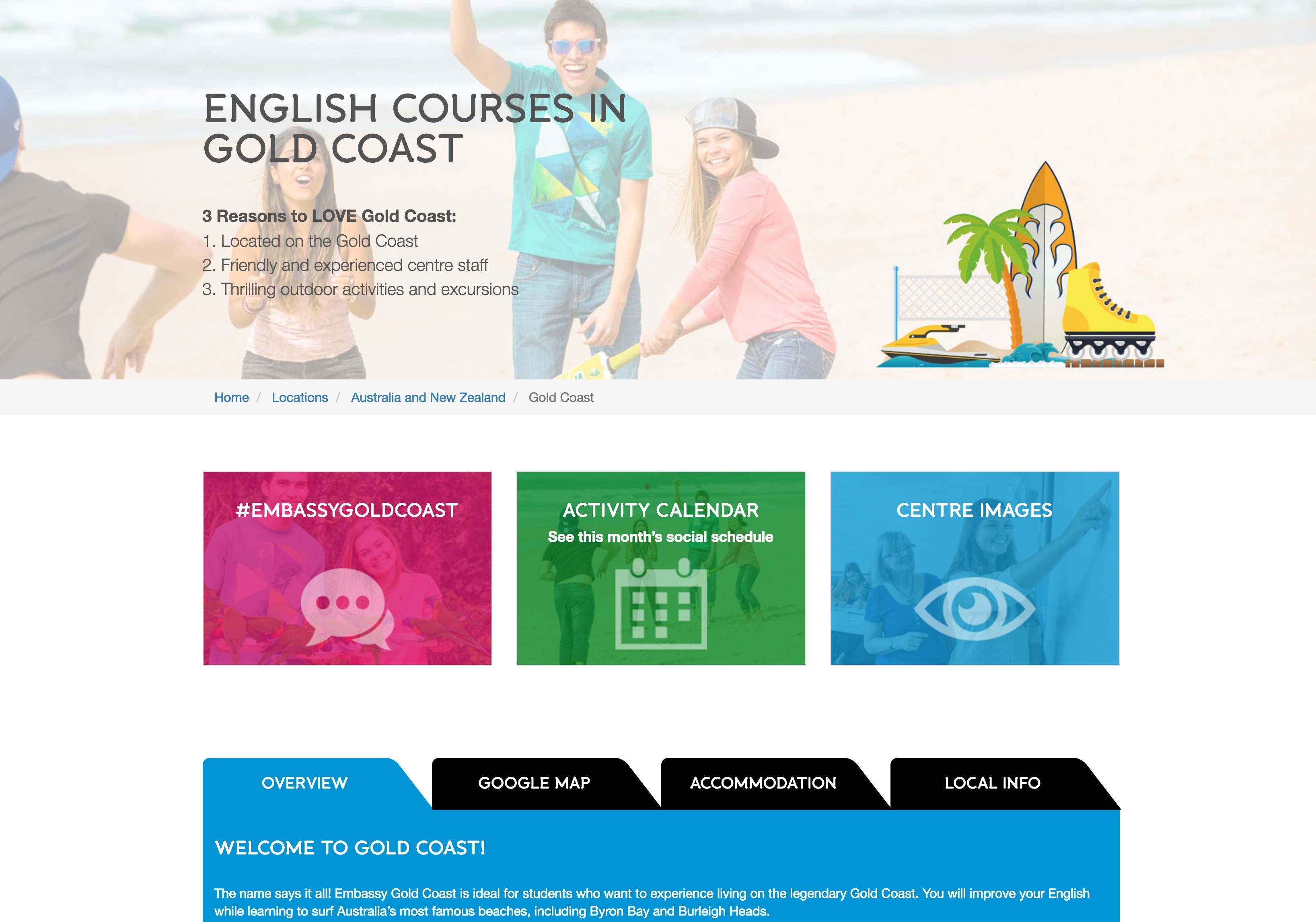 Embassy English Gold Coast