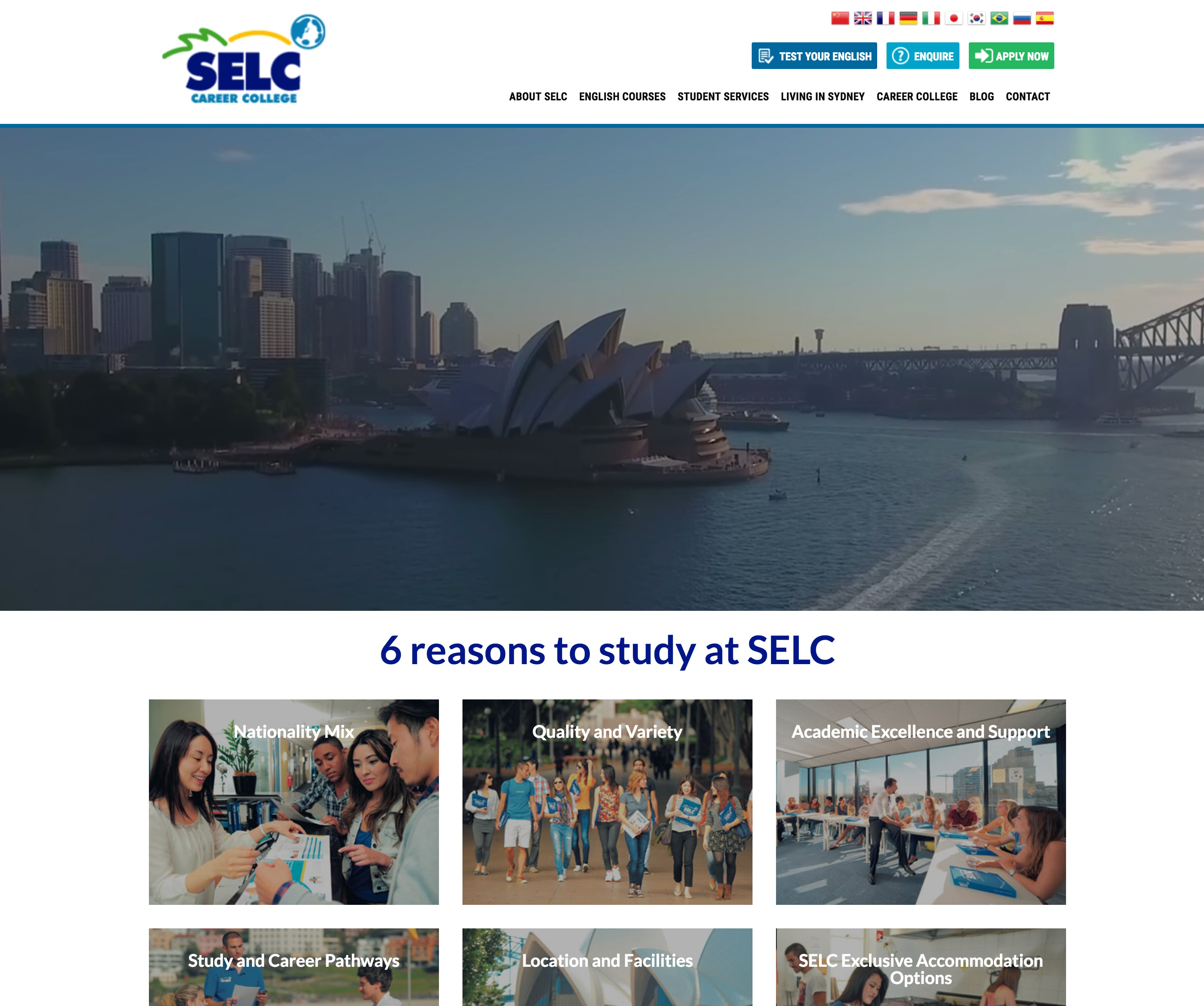 Sydney English Language Centre(SELC)Sydney City Campus